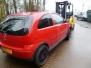 Opel Corsa C rood.